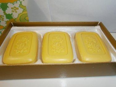 3 New AVON LEMON VELVET Perfumed SOAPS Soap Bars Fragrance Women