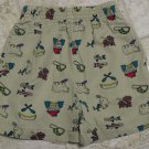 Used GYMBOREE SHORTS Medium Into the Woods 3T 4T Camping