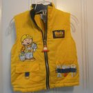 USED BOB THE BUILDER Yellow VEST Tools Zipper Boy Size 5 Cone