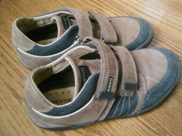 USED GEOX SHOES Sneakers 3 M Boys Brown Synthetic Leather