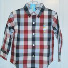 New GYMBOREE SHIRT Checkers 4 The Great Bambini Red Long Sleeves LS