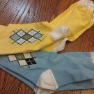 New GYMBOREE Country Club SOCKS 2 Pairs 3 4 yrs Argyle