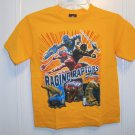 New POWER RANGERS SHIRT Tops Raptor Dino Thunder Sz S 6 7 Boys Yellow