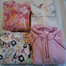 4 USED 3T 4T Pink FLEECE PULL-OVER SHIRTS Flower Old Navy Sonoma Jumping Beans