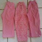 3 USED Okie Dokie Athletic Works Sz 3T Pink Fleece PANTS Girls