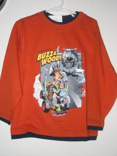 New Disney Store Buzz Lightyear Woody Dog Orange XS 4 5 SHIRT