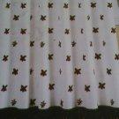 New Waverly Beautiful Things Cotton Fabric Shower Curtain Poinsettia