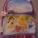 New Disney Store Princesses Aurora Belle BACKPACK Bag Pink Rainbow Castle