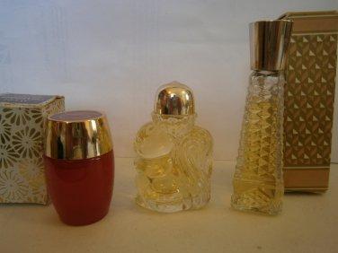 2 NEW 1 USED AVON CHARISMA Mini Cologne Splash Lot Women B