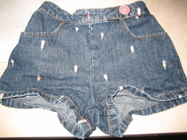 Used GYMBOREE ICE CREAM SOCIAL DENIM JEANS SHORTS Sz 2T