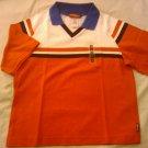 New GYMBOREE Polo SHIRT TOPS Sz 6 XL Boy Short Sleeves Stripes Red White
