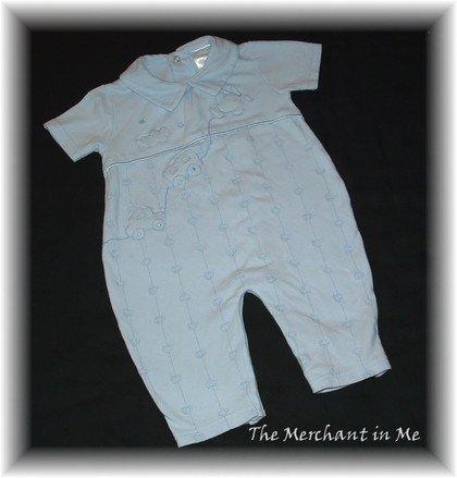Infant Baby Boy Blue Romper Miniclasix 9 m HCTS