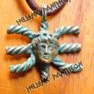Apollo  Delphic E  Delphic E ЭЄ EPSILON ЭЄ. Talisman ,Grecian Amulet , Wiccan pendant  Medium