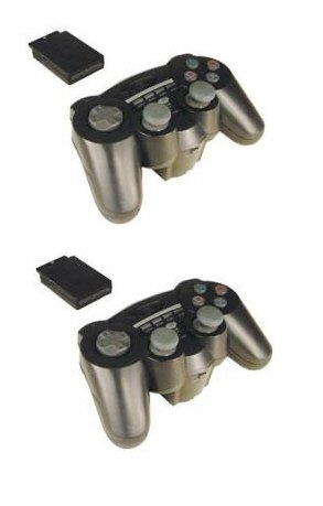 HIP GEAR PS2/PS One 2.4 Ghz Wireless Controller 2 pack