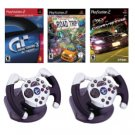 PS2 2 Wheels and 3 Games Racing Bundle