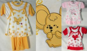 3 piece baby girl set 0509c