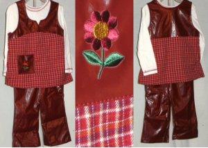 girl 2 piecedress and pleather pants set 0542c