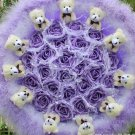 Wholesale Cartoon Bouquet Teddy Bear Doll Bouquet Valentine's Day Wedding Birthdays Gift - Purple
