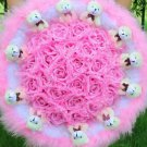 Wholesale Cartoon Bouquet Teddy Bear Doll Bouquet Valentine's Day Wedding Birthdays Gift - Pink