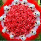 Wholesale Cartoon Bouquet Teddy Bear Doll Bouquet Valentine's Day Wedding Birthdays Gift - Red