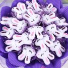 Catoon Bouquet Love Rabbit Doll Bouquet Sale Valentine's Day Wedding Birthdays Gift - Purple