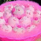 Romantic 16 Lovely Pig Bouquet for Wedding,Valentine, Birthday Gift- Pink