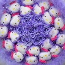 New Style Hello Kitty Bouquet Girls Birthday Gift Valentine Gift Wedding Gift - Purple