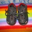 ADORABLE BLACK INFANT BABY SHAQ SHOES..CUTE!  FREE SHIP!