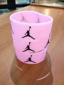 JORDAN Sport Silicone Wristband Bracelet  Pink-Black