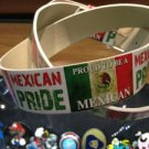 "Hecho En México White Leather Belt Mens/Womens Roller Buckle Sz XL 42""-44"""