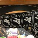 "Hecho En México  Black Leather Belt Mens/Womens Roller Buckle Sz XL 42""-44"""