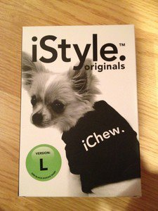 iChew.  dog shirt black size Large 21-35 Lbs.
