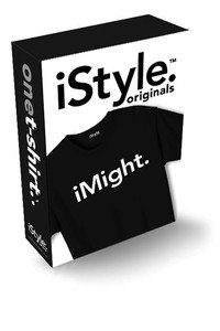 NWT iSTYLE ORIGINAL iMight. apple iPhone Inspired T-Shirt Womens sz: LARGE