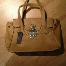 B & G Fashion Designer Handbag  Camel