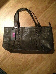 B & G Fashion Designer Handbag  Gray