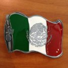 MEXICAN FLAG BELT BUCKLE VIVA MEXICO BUCKLES