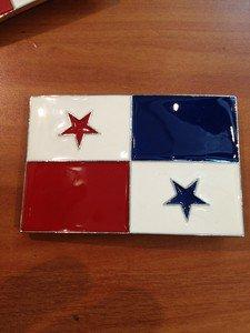 Pewter Belt Buckle National Flag of Panama NEW