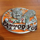Pewter Belt Buckle novelty Tattoo You Tattooed Lady NEW
