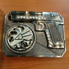 Gun Belt Buckle Eagle Spin With Stones