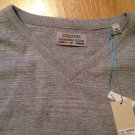 New ALEXANDER JULIAN COLOURS * 100% V-NECK SWEATER * SZ Medium Grey
