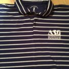 Fairway & Greene Pureformance Navy /White Stripe Cotton Golf Polo Shirt XL