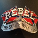 REBEL THE SOUTH WILL RISE CSA SOUTHERN CONFEDERATE FLAGS BELT BUCKLE BUCKLES