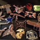 NEW LOT 18 Unisex BELT BUCKLES - MIXED VARIETY - MUST SEE Pictures