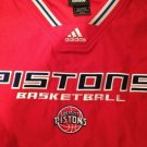 Adidas AUTHENTIC NBA Pullover SWEATSHIRT DETROIT PISTONS XL Red