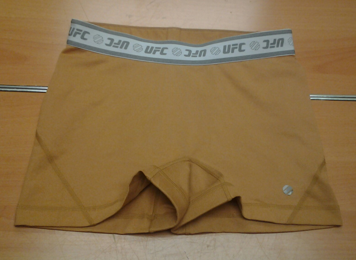 Ladies UFC light brown Spandex Bike shorts womens Medium