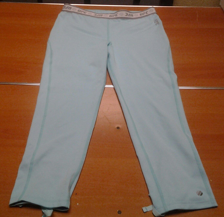 Ladies UFC Capri yoga pants light blue womens Medium