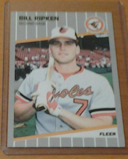 BILL RIPKEN Baltimore Orioles 1989 Fleer black box error card