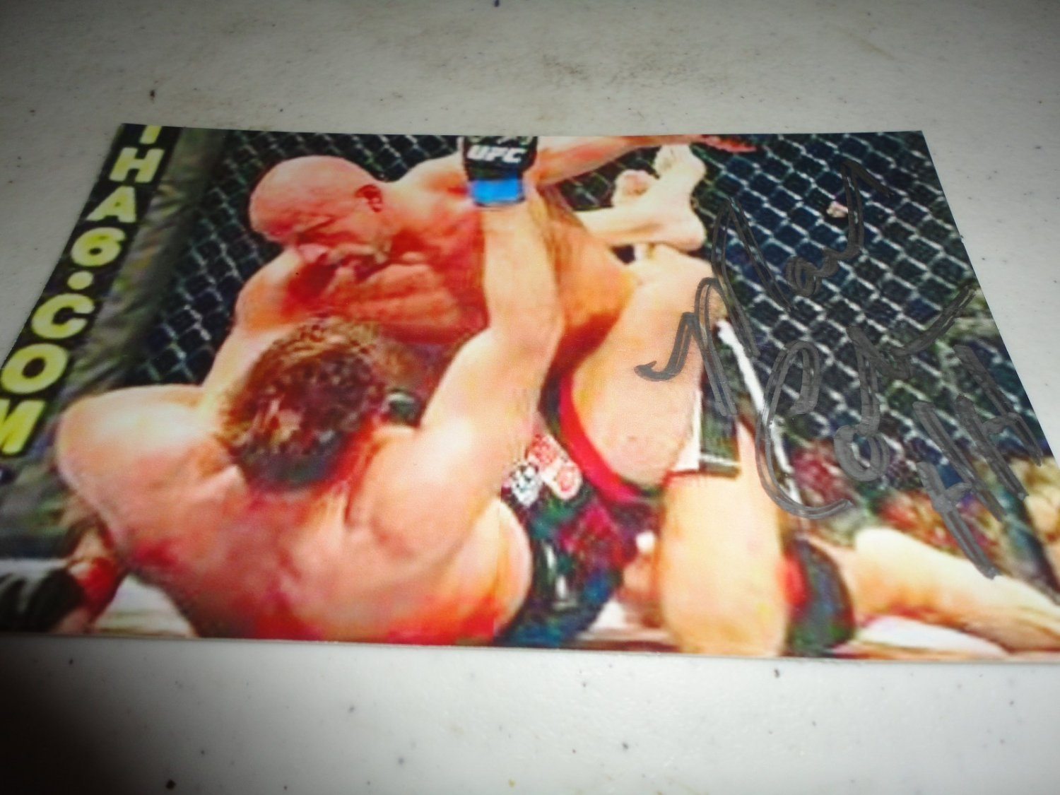 UFC Hall of Famer MARK COLEMAN autographed signed 4x6 photo MMA