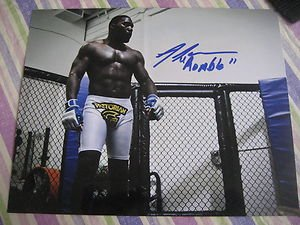 "UFC MMA ANTHONY ""Rumble"" JOHNSON autographed signed 8x10 photo"