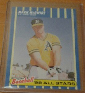 MARK MCGWIRE Athletics 1988 Fleer All-Stars card